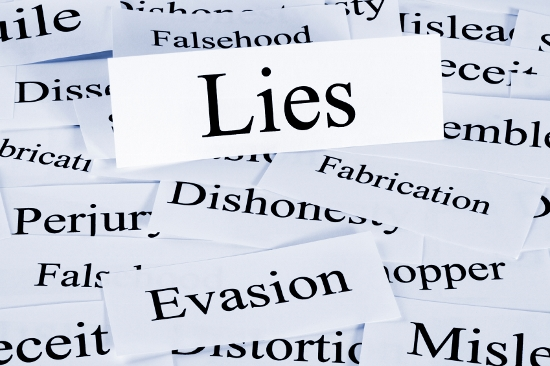 A conceptual look at lies or lying, evasion and dishonesty.